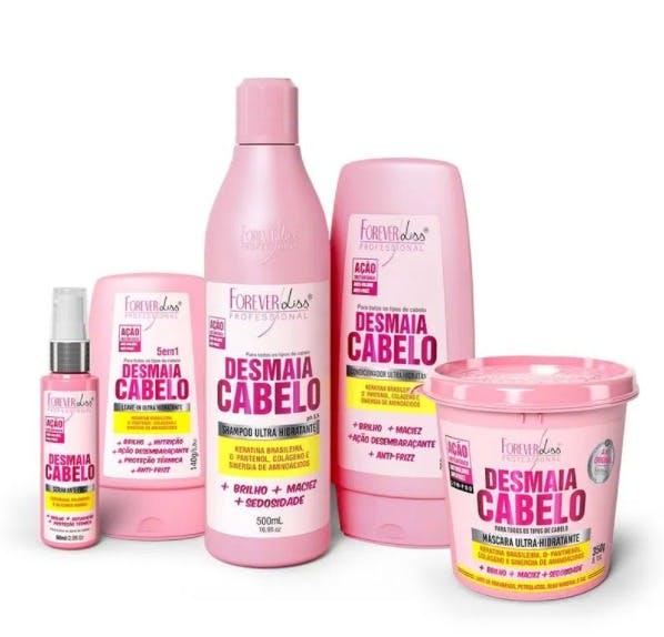 """linhas de produtos """"Desmaia Cabelo"""" retirada do site www.foreverliss.com.br"""