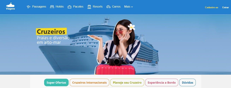página inicial da submarinoviagens.com.br/cruzeiros