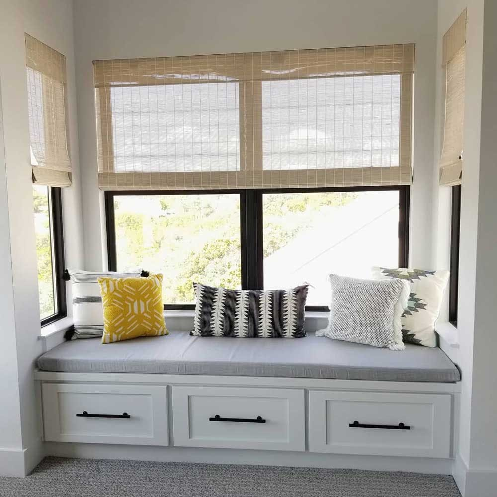 bench seat window treatments bamboo