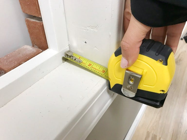 measuring depth of window sill