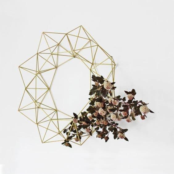 Hruskaa Bruma Modern Geometric Wreath via Etsy