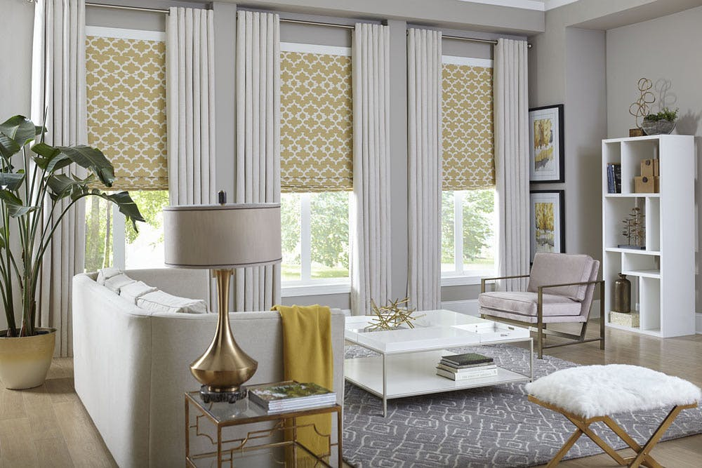 How To Layer Window Treatments The Blinds Blog