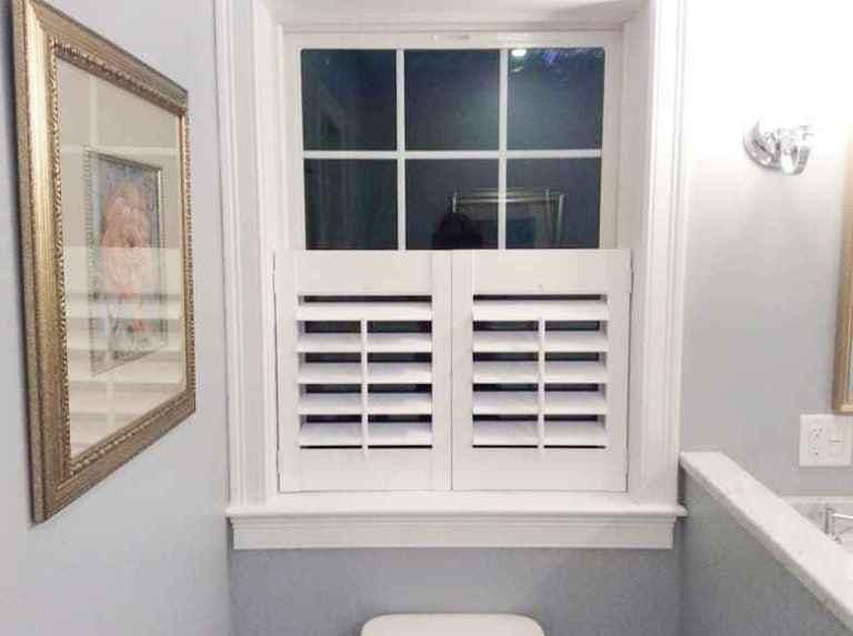 Bathroom Window Treatments The Blinds, Bathroom Shutter Blinds