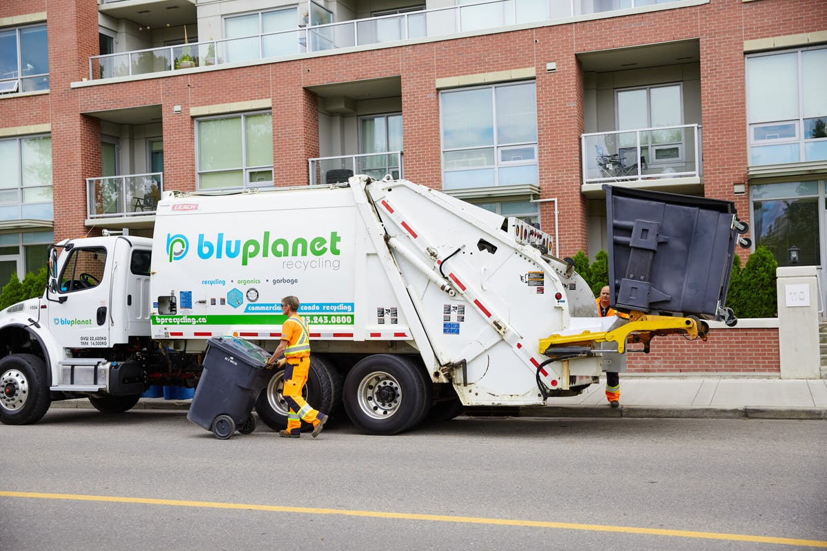 BluPlanet Recycling Garbage Collection at Calgary Condo and Business