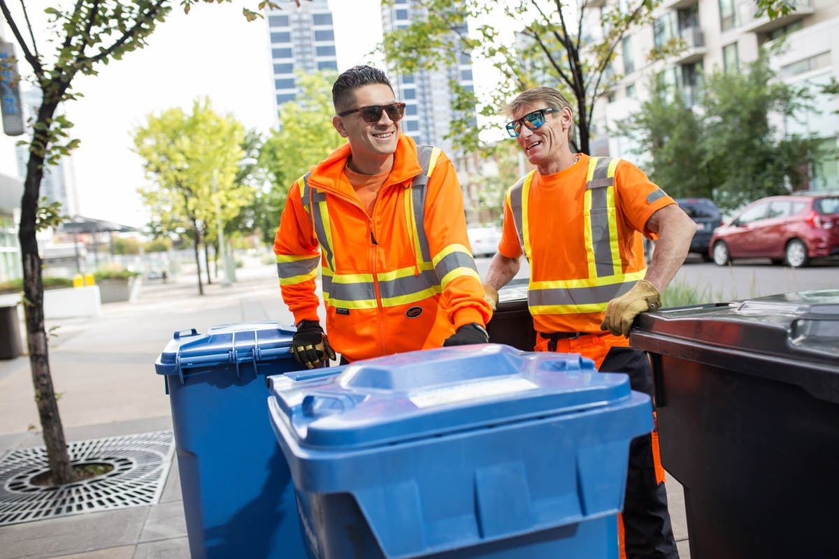 BluPlanet Recycling Servicing Carts Outside for your Condo and Business