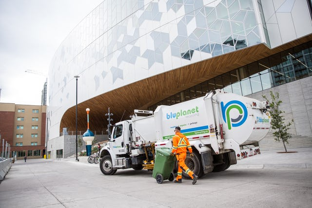 BluPlanet Recycling collecting compostable organics from businesses and condos in Calgary