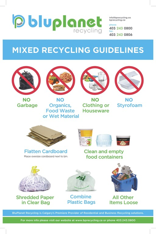 Mixed recycling guidelines