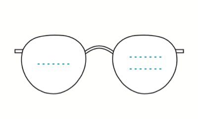 steel bifocal glasses
