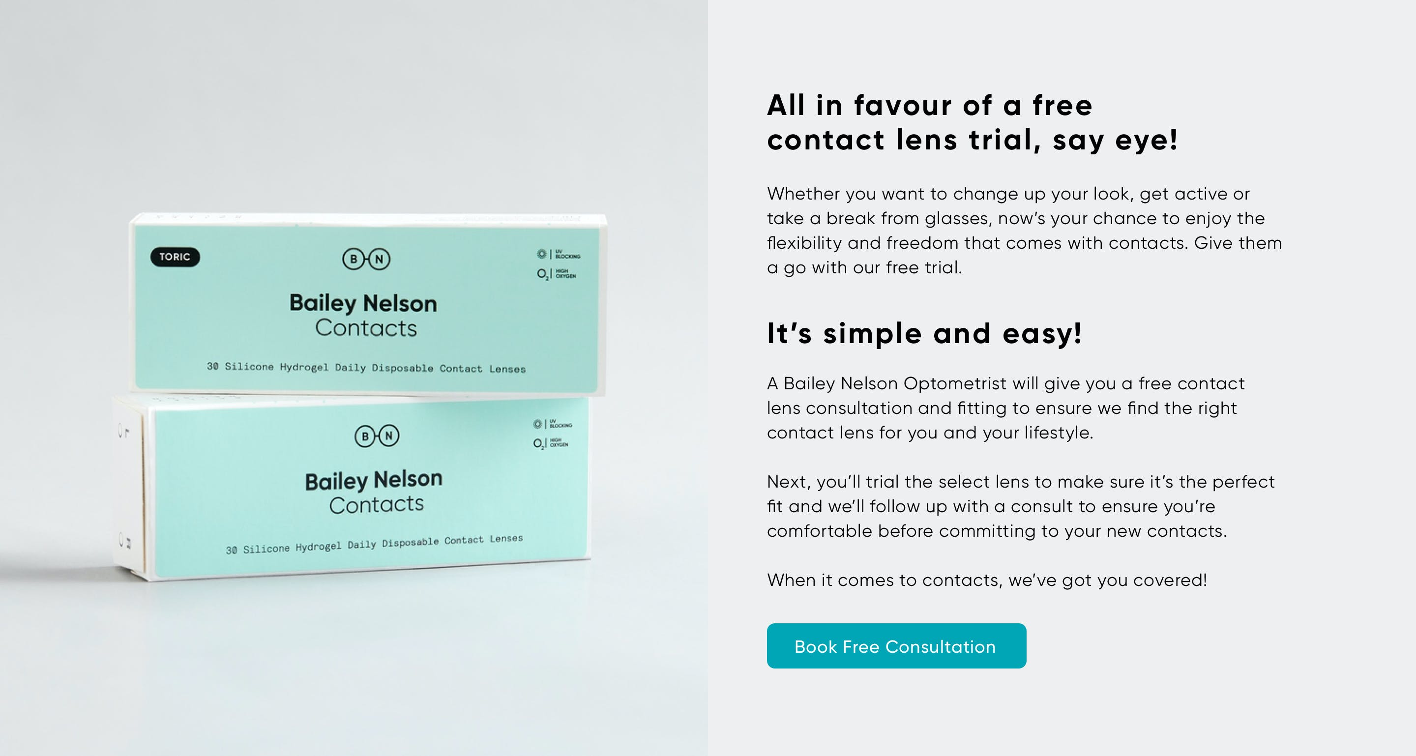 start a contact lens trial