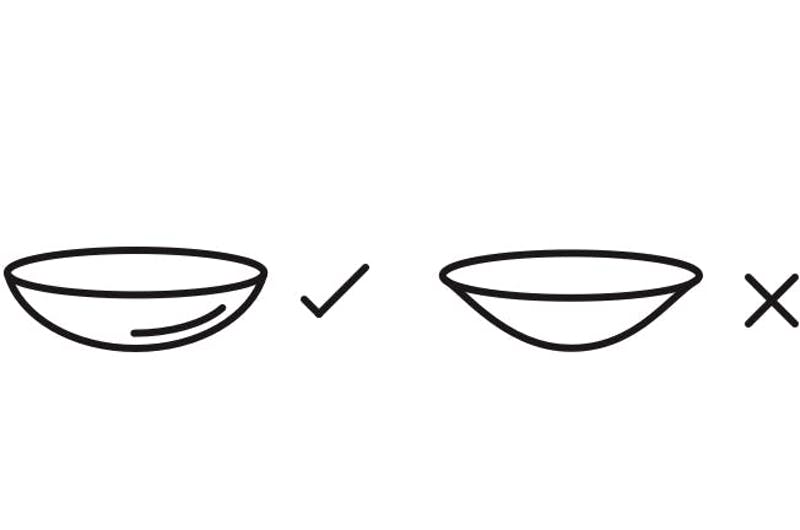 the correct way up for contact lenses