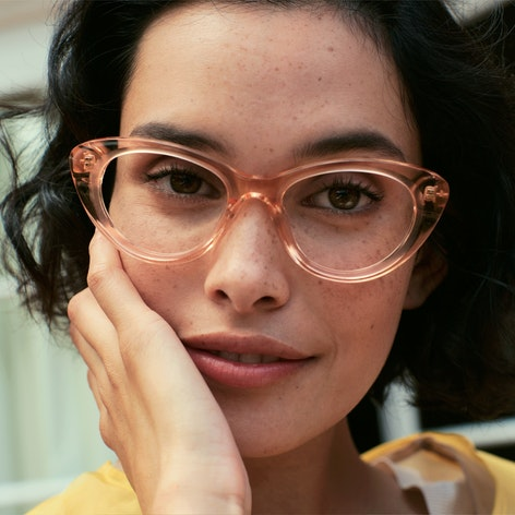 Woman wearing Lily glasses