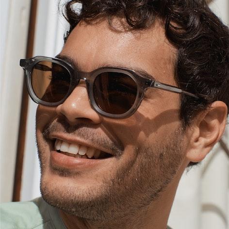 man wearing Senna sunglasses