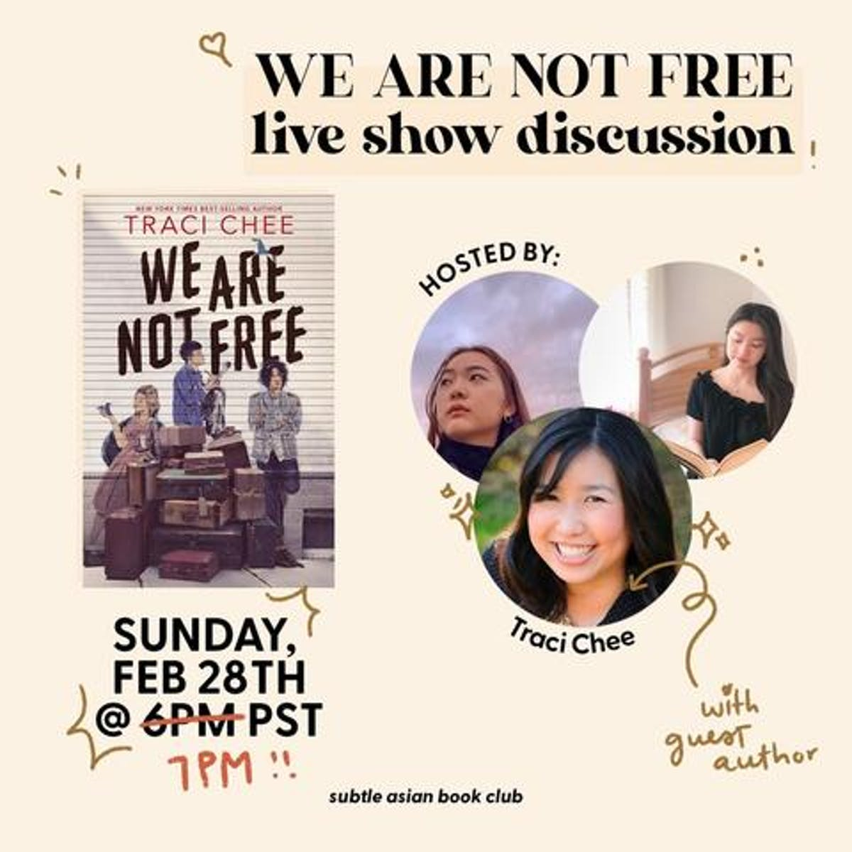 Poster of a live show discussion named We are not free