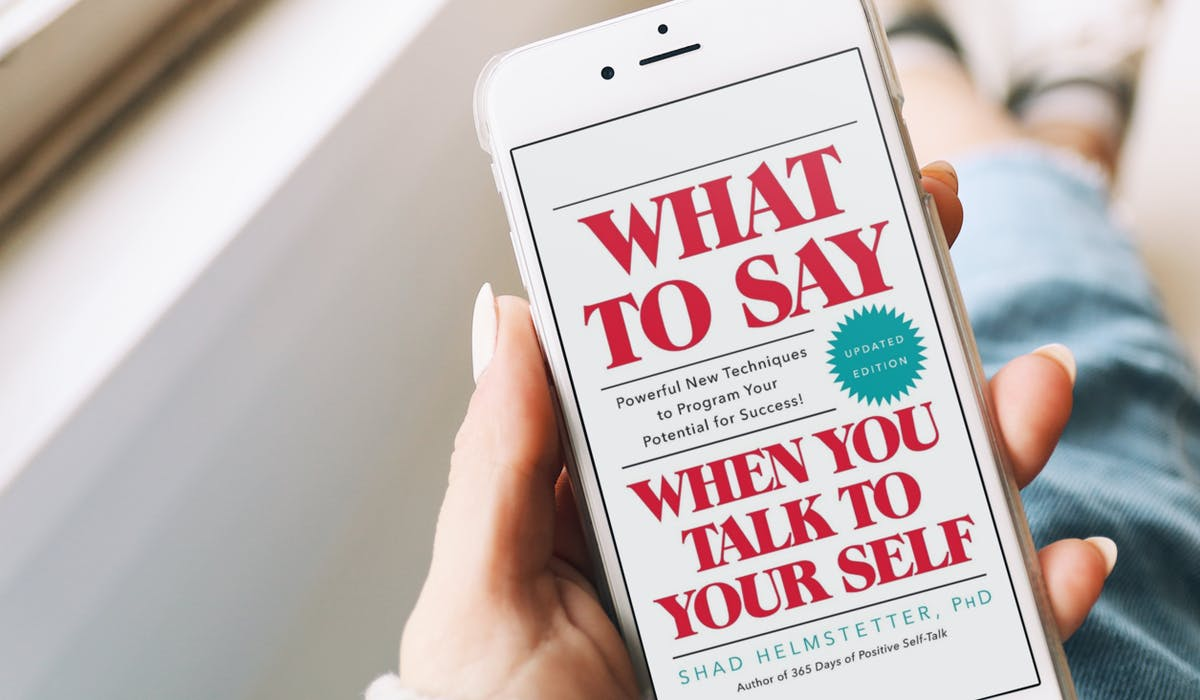 Lady reading: What to Say When You Talk to Yourself