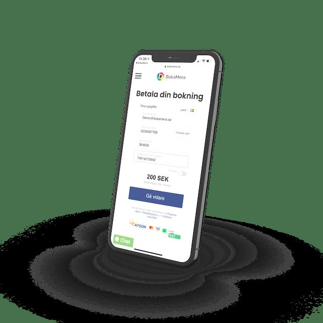 Betala online när du bokar i bokningssystemet