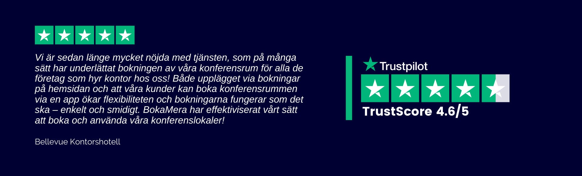 Trustpilot BokaMera och kontorshotell