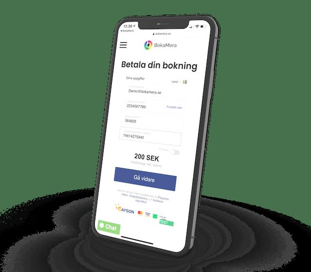 Kunder kan betala direkt vid bokning med BokaMeras betallösning genom Paypal och Billmate