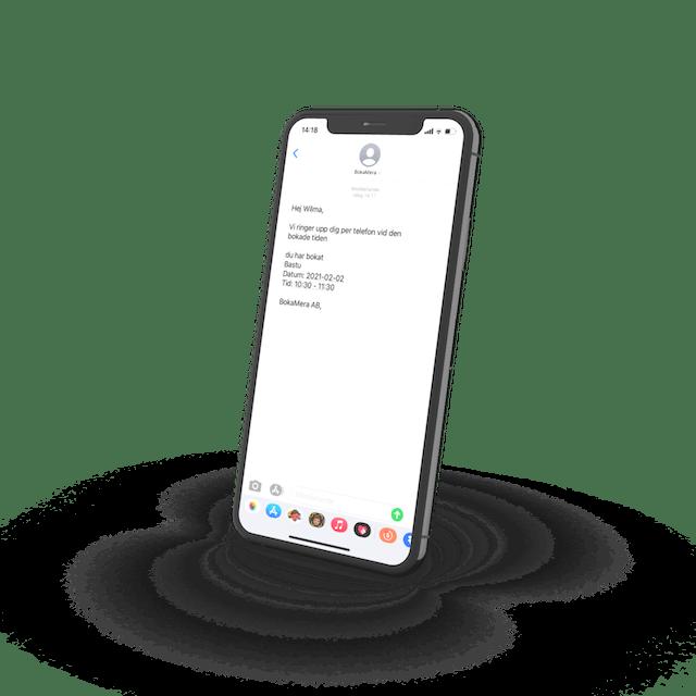 Skicka SMS-påminnelser till dina kunder via BokaMera