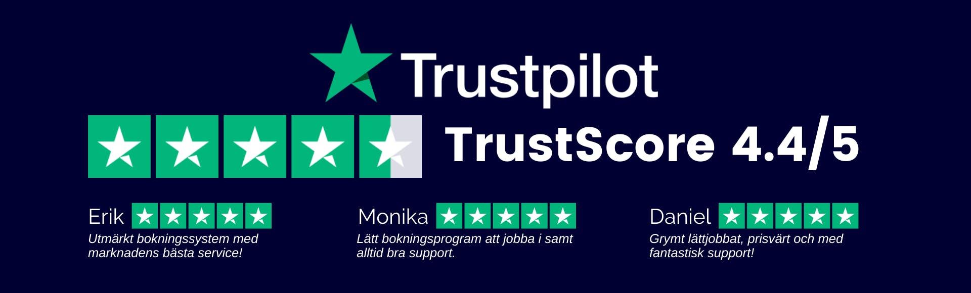 BokaMera Trustpilot omdömen rejta