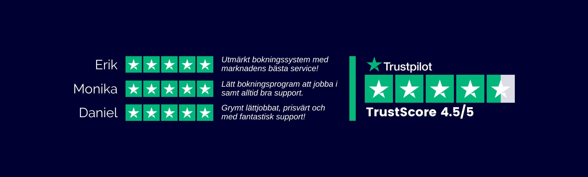 BokaMera Trustpilot