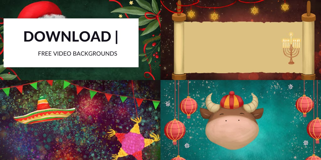 Holiday themed video email backgrounds for Bonjoro [Free downloads]