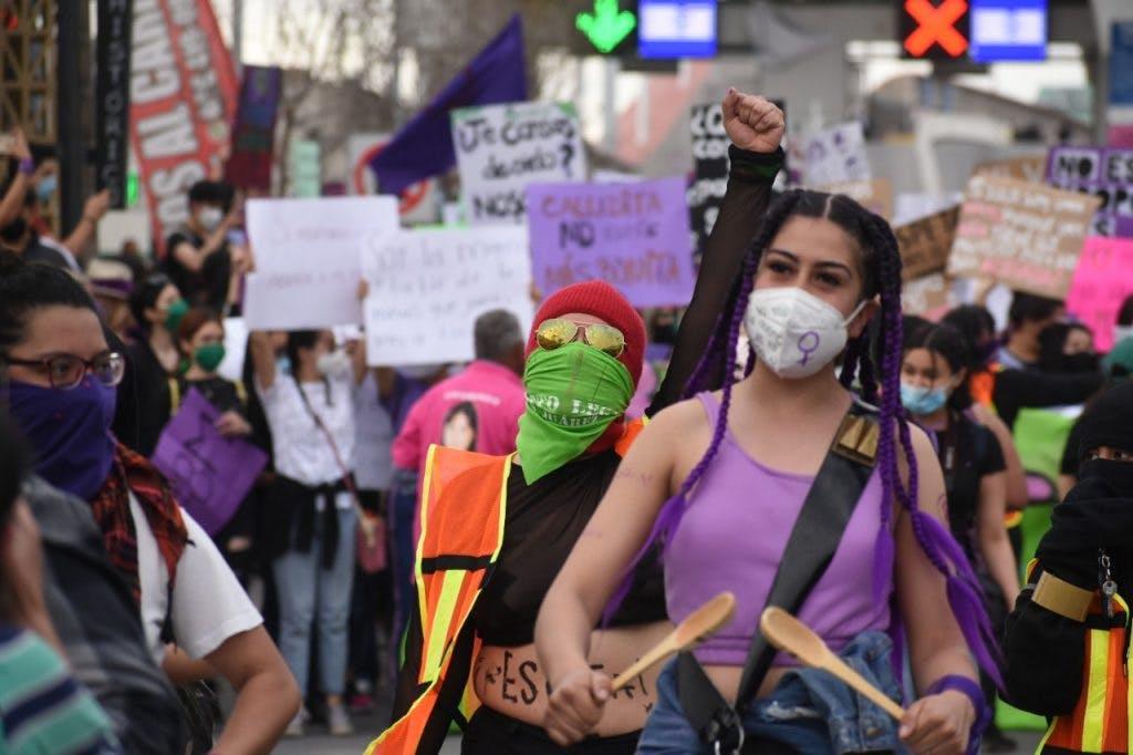 Marchas a favor del aborto en Juárez.