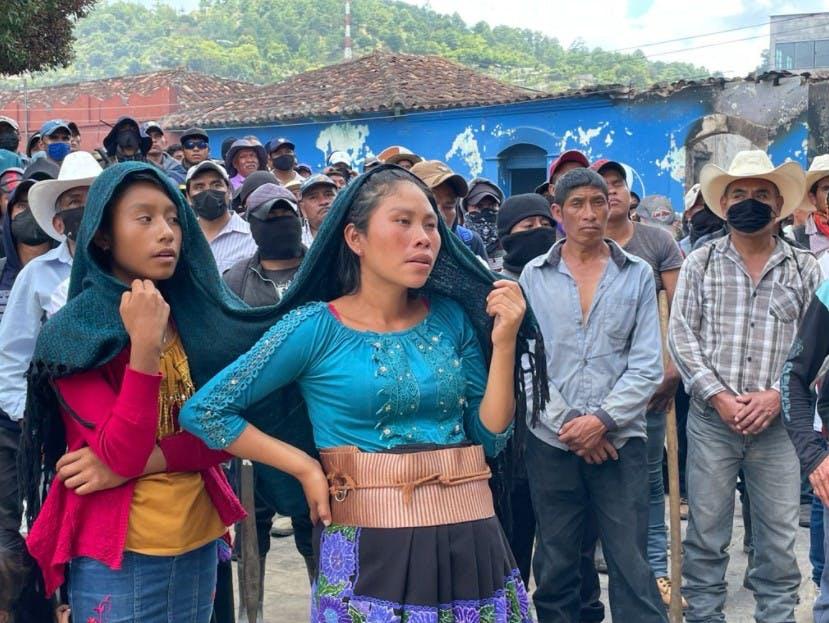 Pobladores de Pantelhó.