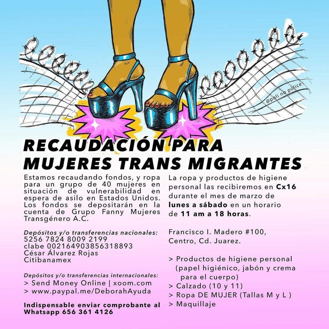 recaudación, mujeres trans en Ciudad Juárez