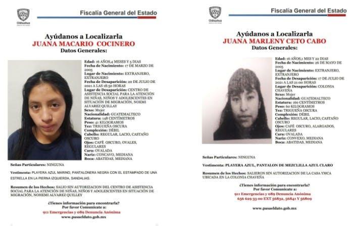 Desaparecidas en Juárez.