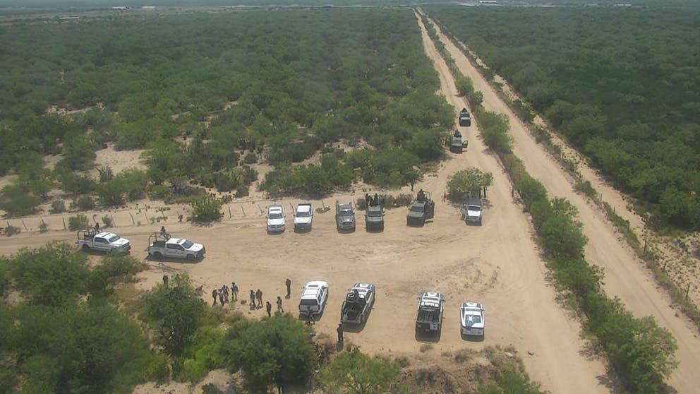 Operativo de búsqueda de desaparecidos.