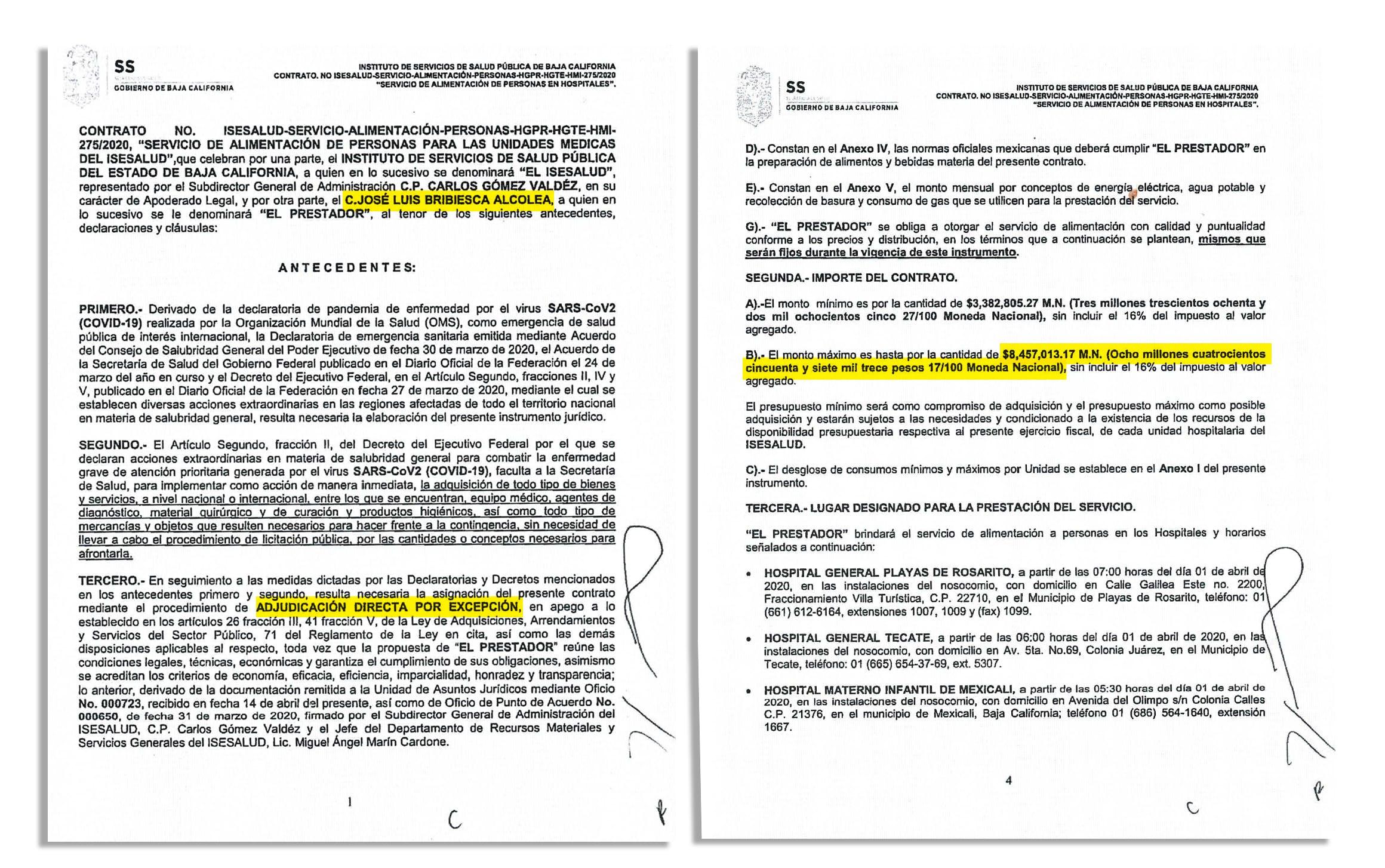 Contratos millonarios José Luis Bribiesca, Brava Gastroindustria.