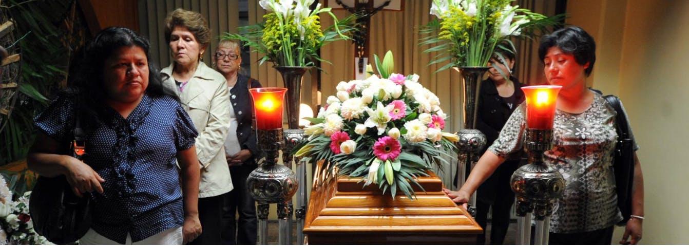Funeral de Regina Martínez en Veracruz.