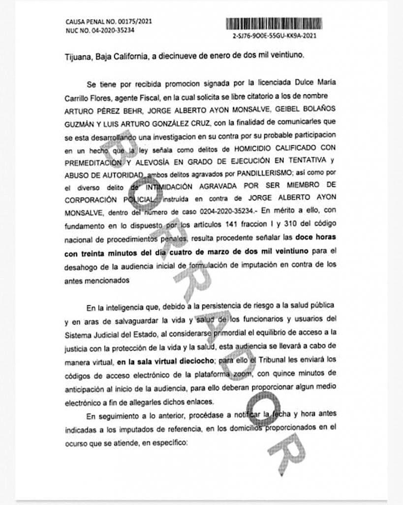 Denuncia contra el alcalde de Tijuana Luis Arturo González Cruz