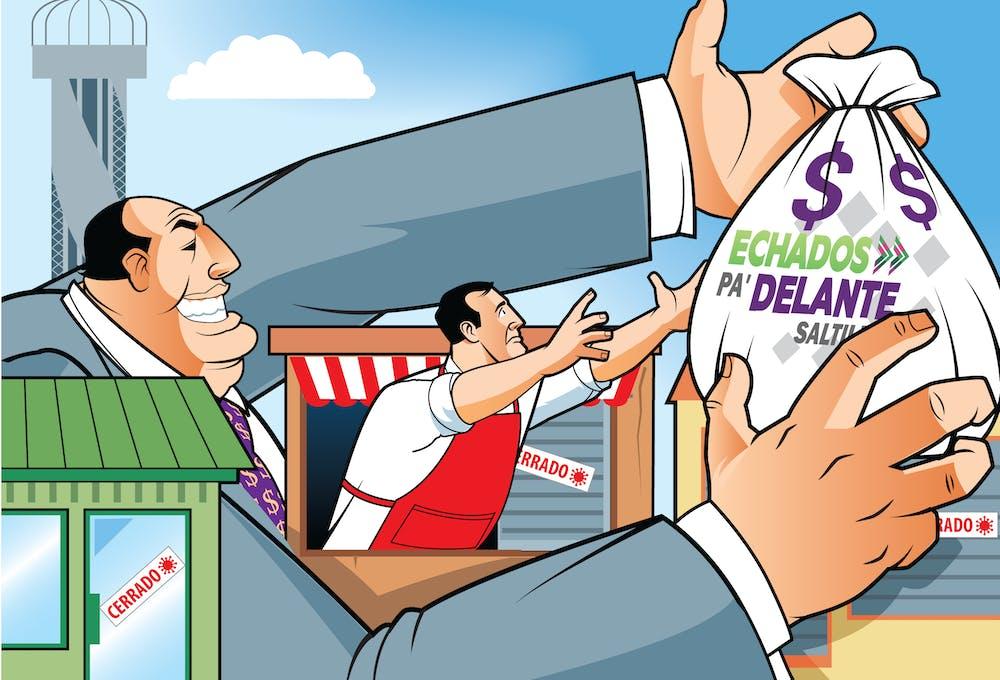 La estratwgoa Echados Pa'Delante del gobeirno de Saltillo repartió los recursos entre empresarios que no los necesitaban