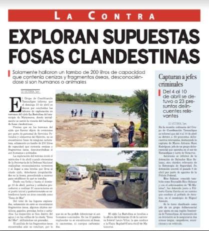 Campo de exterminio en Matamoros.