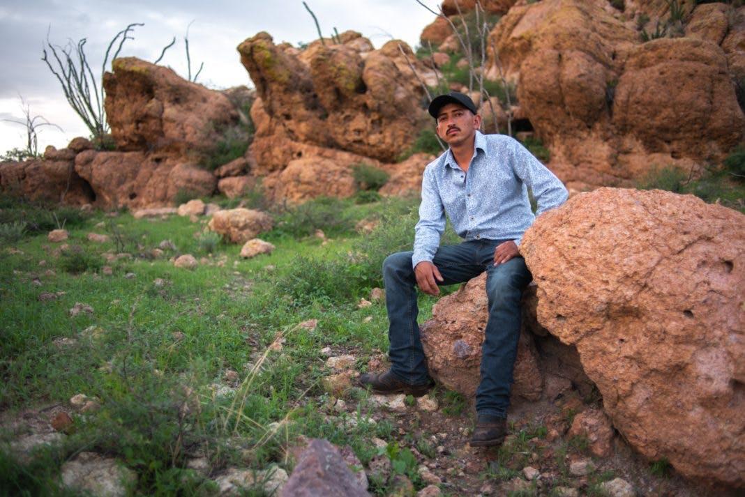 Mario rascón, en el cerro La Mezcalera, en Chihuahua.