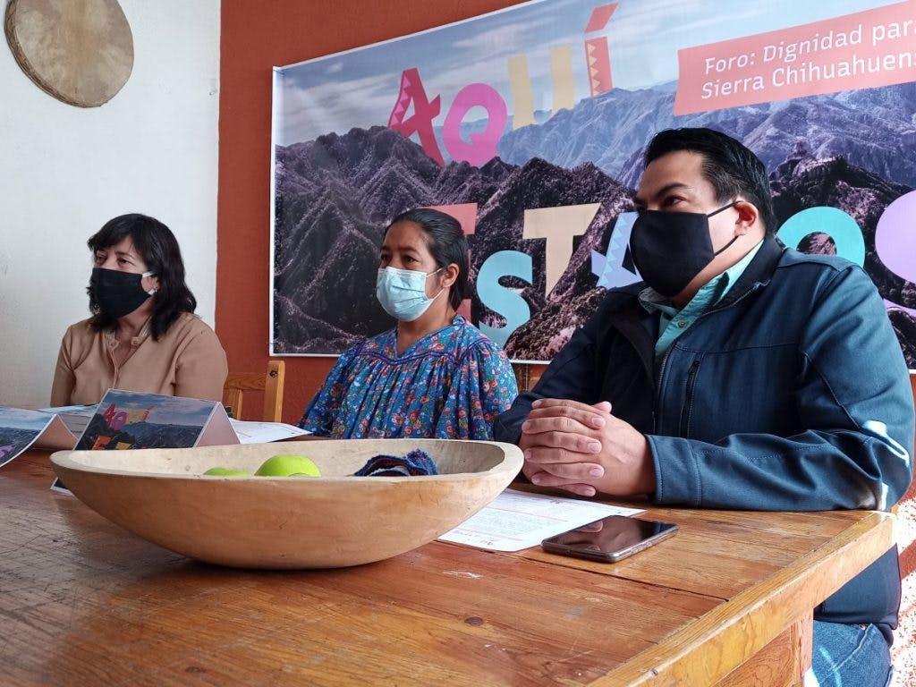 Miembros de CONTEC, una d elas organizaciones que organizan los foros sobre la Sierra Tarahumara.