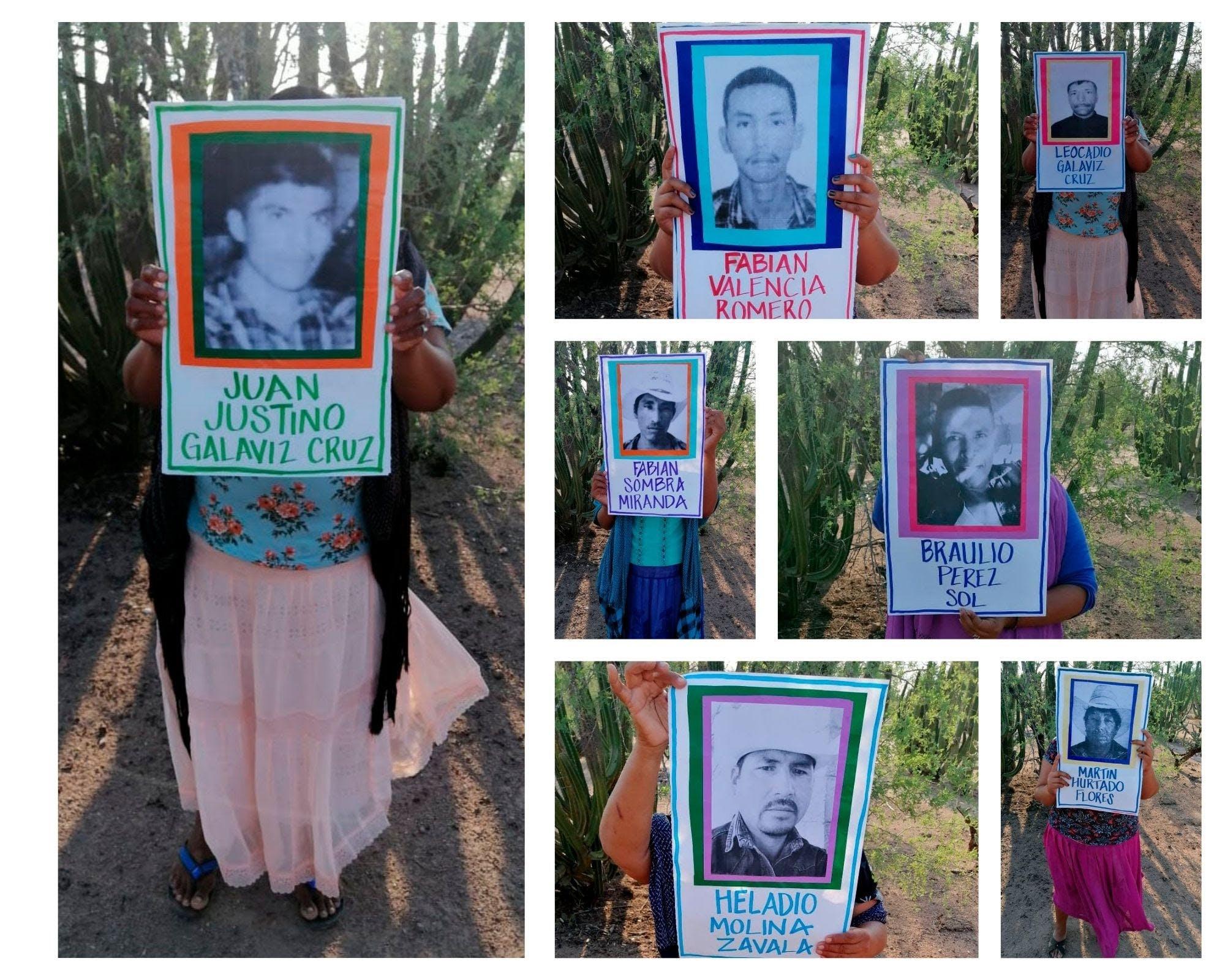 Familiares de Yaquis desaparecidoss.