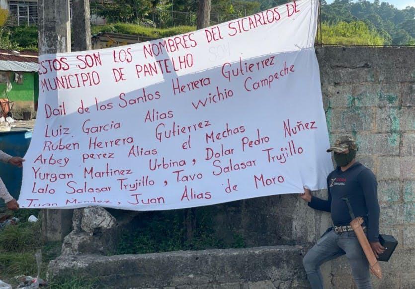 Nombres de presuntos sicarios de Pantelhó.