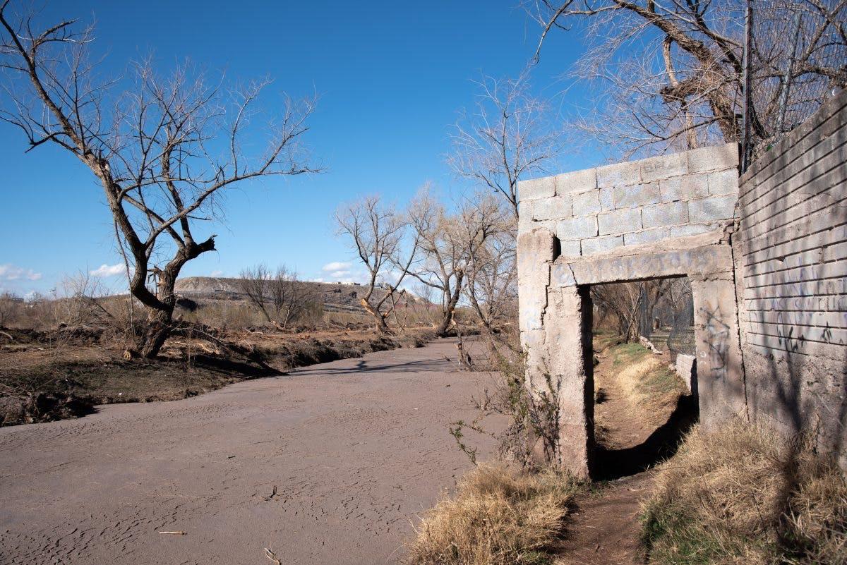 Río Chuvíscar en Chihuahua.