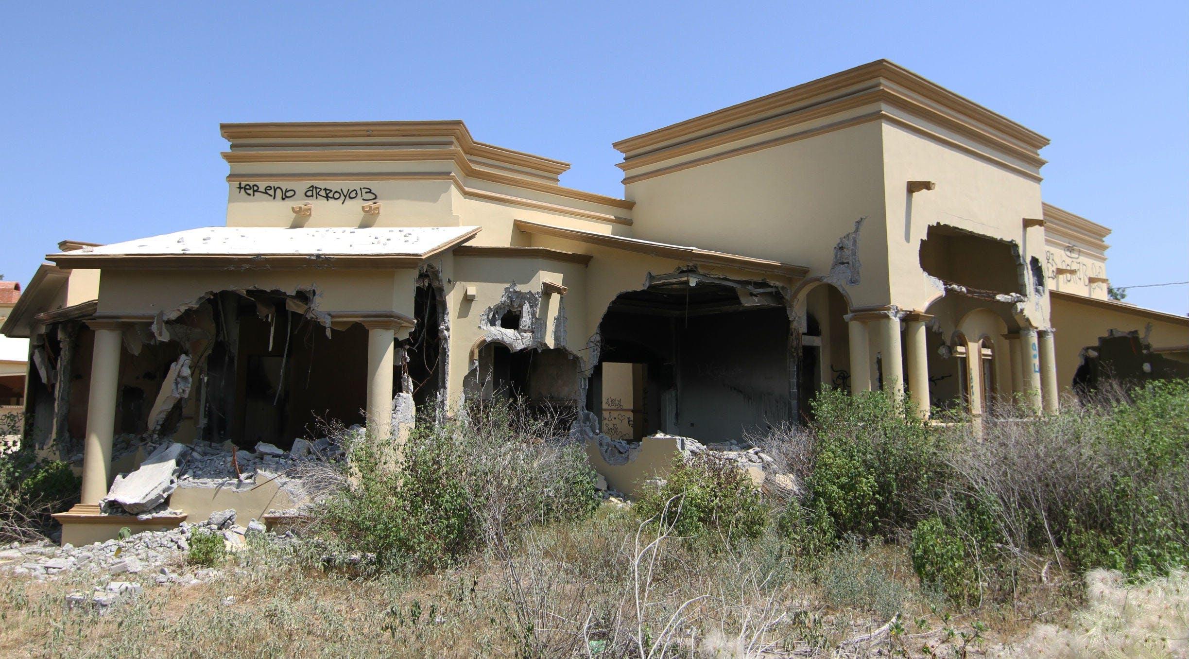 Detalle de la destrucción en Allende, Coahuila