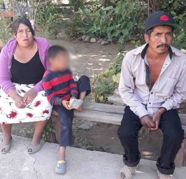 Familia Odami que se quedó sin casa en Guadalupe y Calvo, Chihuahua