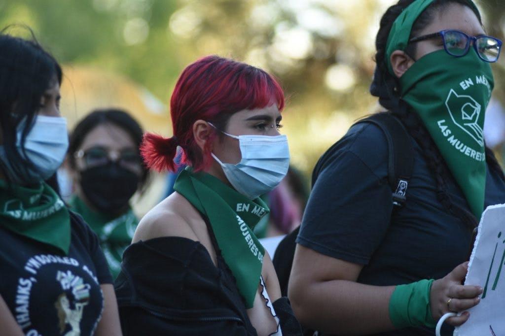 Protesta en Juarez contra la penalización del aborto en Jua´rez.