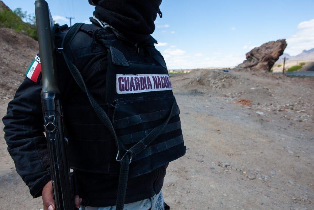 Guardia Nacional en la frontera mexicana con Estados Unidos.