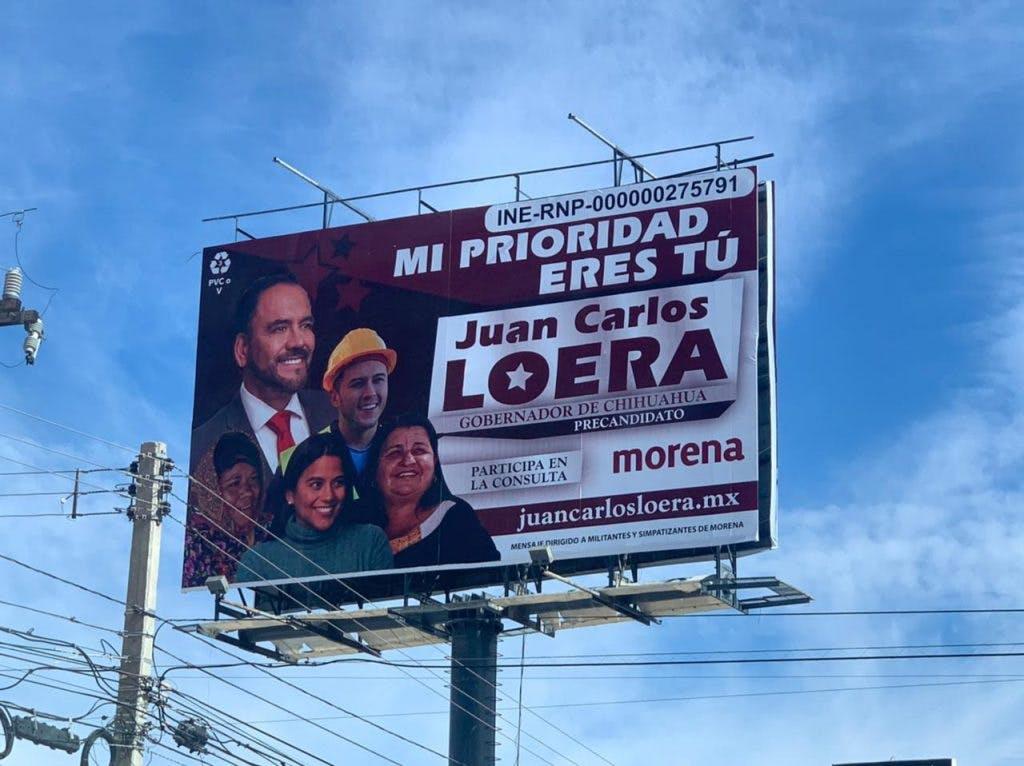 Publicidad candidatos a la gubernatura de Chihuahua.