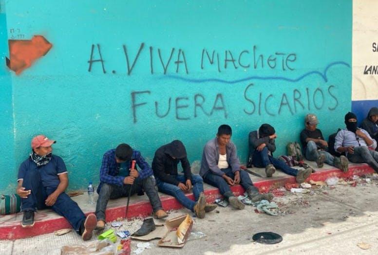 Miembros del grupo de autodefensa Machete en Pantelhó,