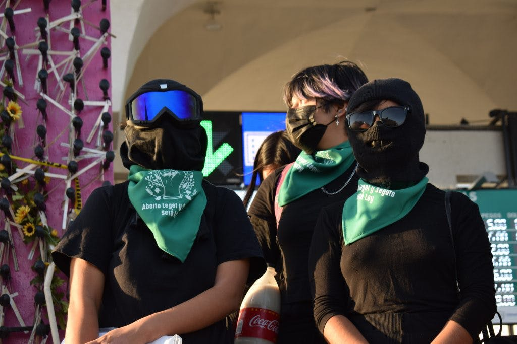 Protestas en Juarez contra Maru Campos.
