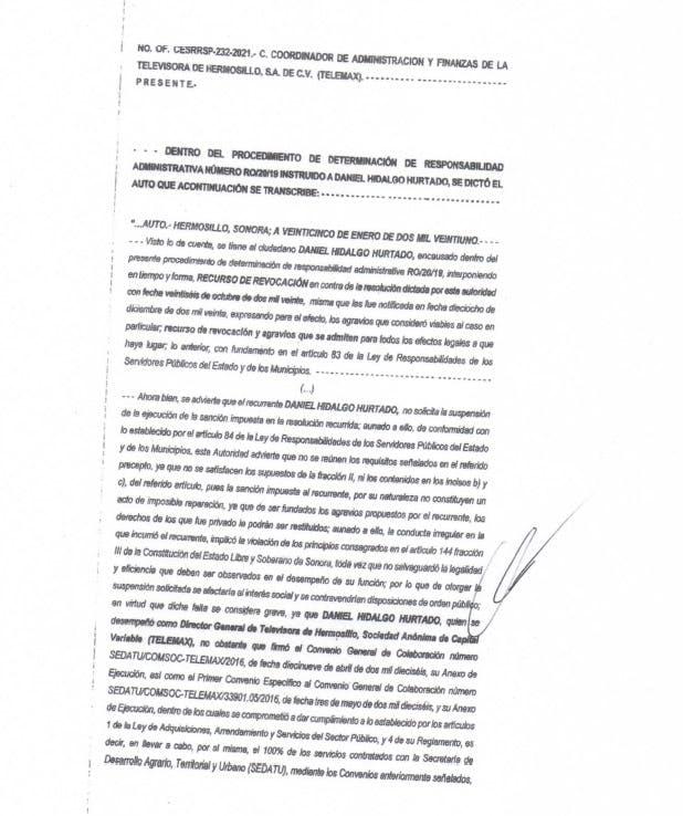 Documento Daniel Hidalgo Inhabilitación.