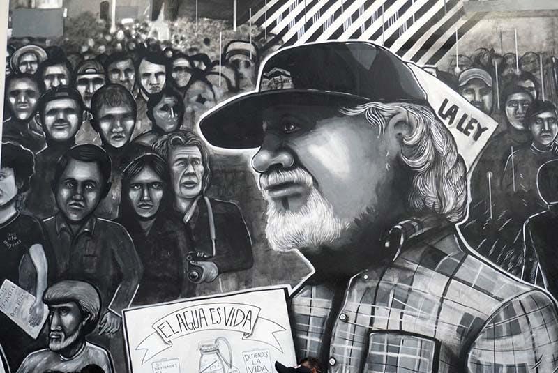 Mural dedicado a los luchadores sociales de Mexicali, incluido Sergio Haro.