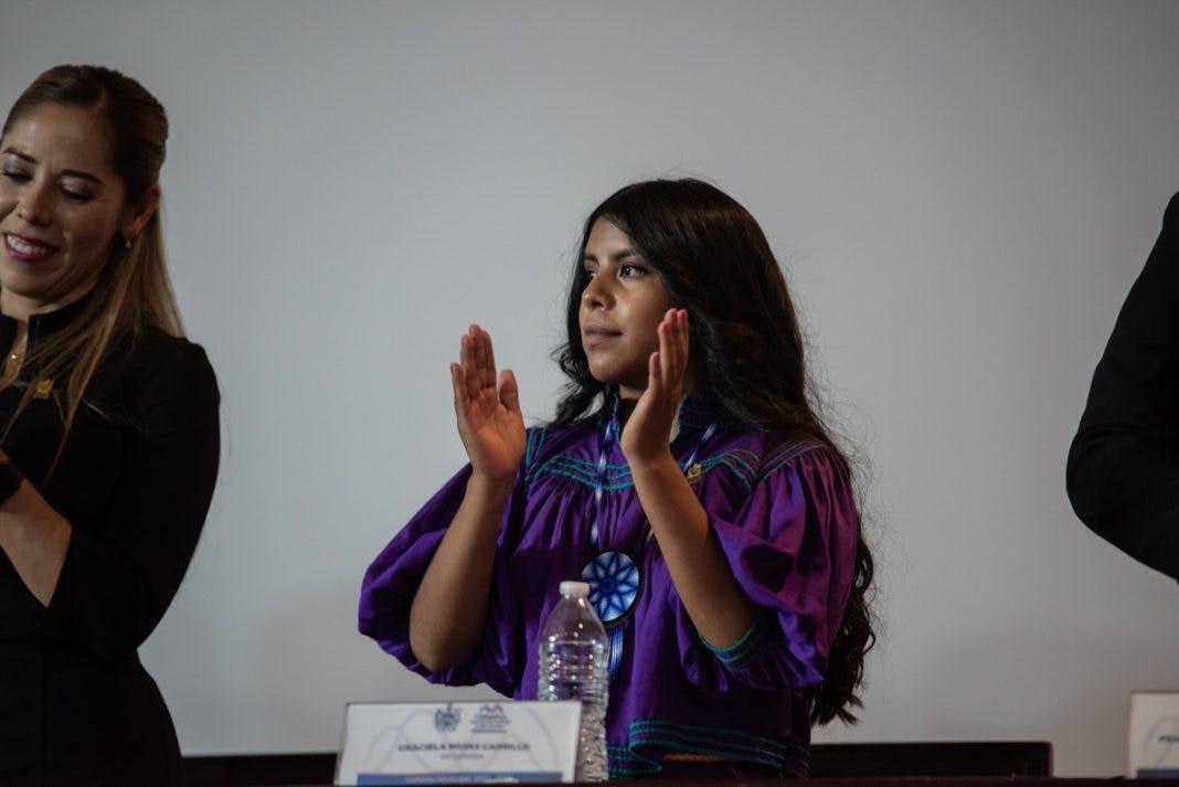 Graciela Rojas, regidora rarámuri en la comisión de ecología.